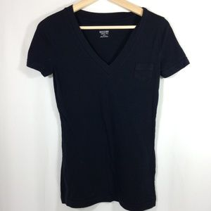 Black V-neck T-Shirt XS